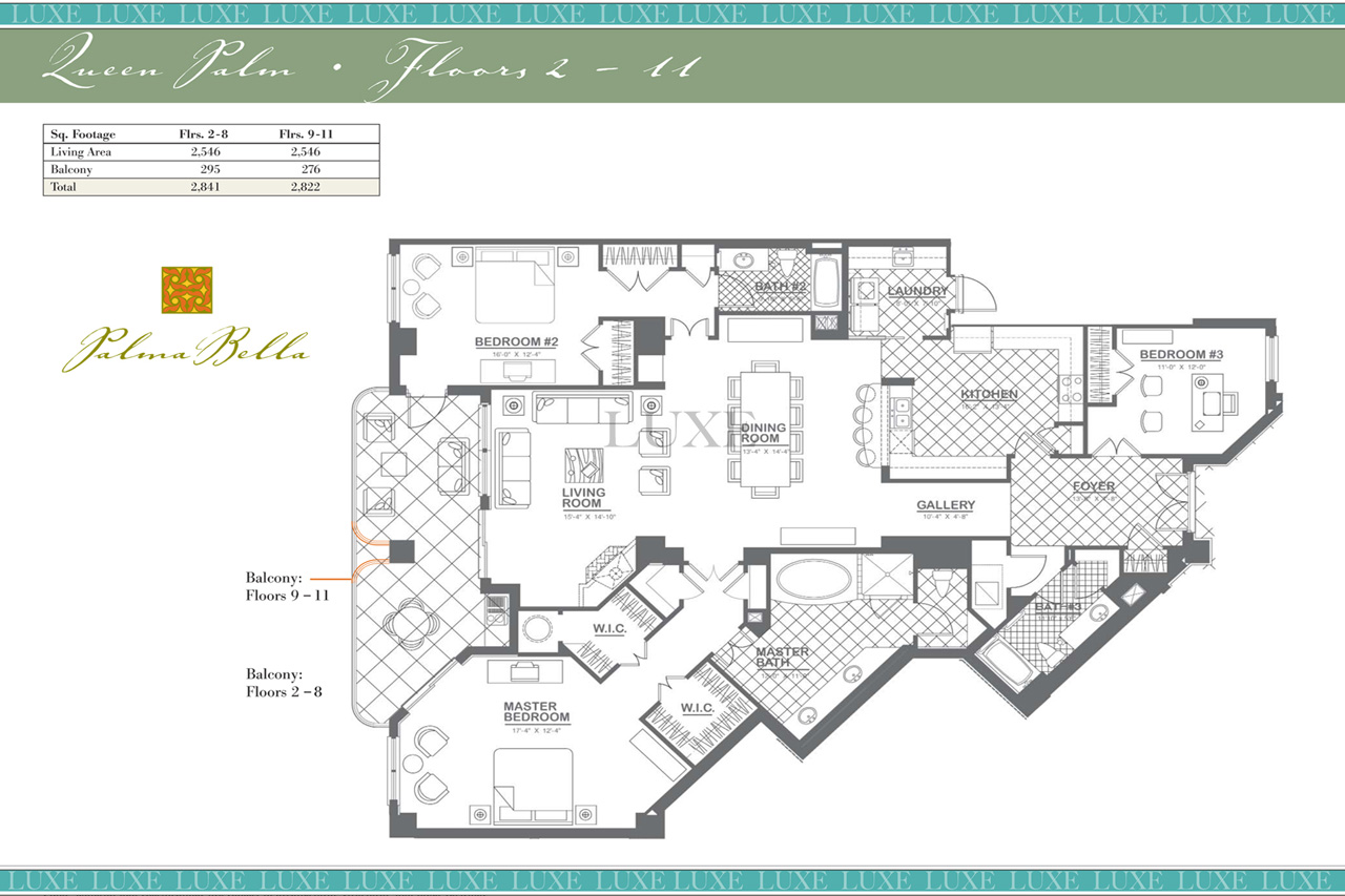 Palma bella condos floor plan 3425 s atlantic ave 32118 for 4 unit condo plans