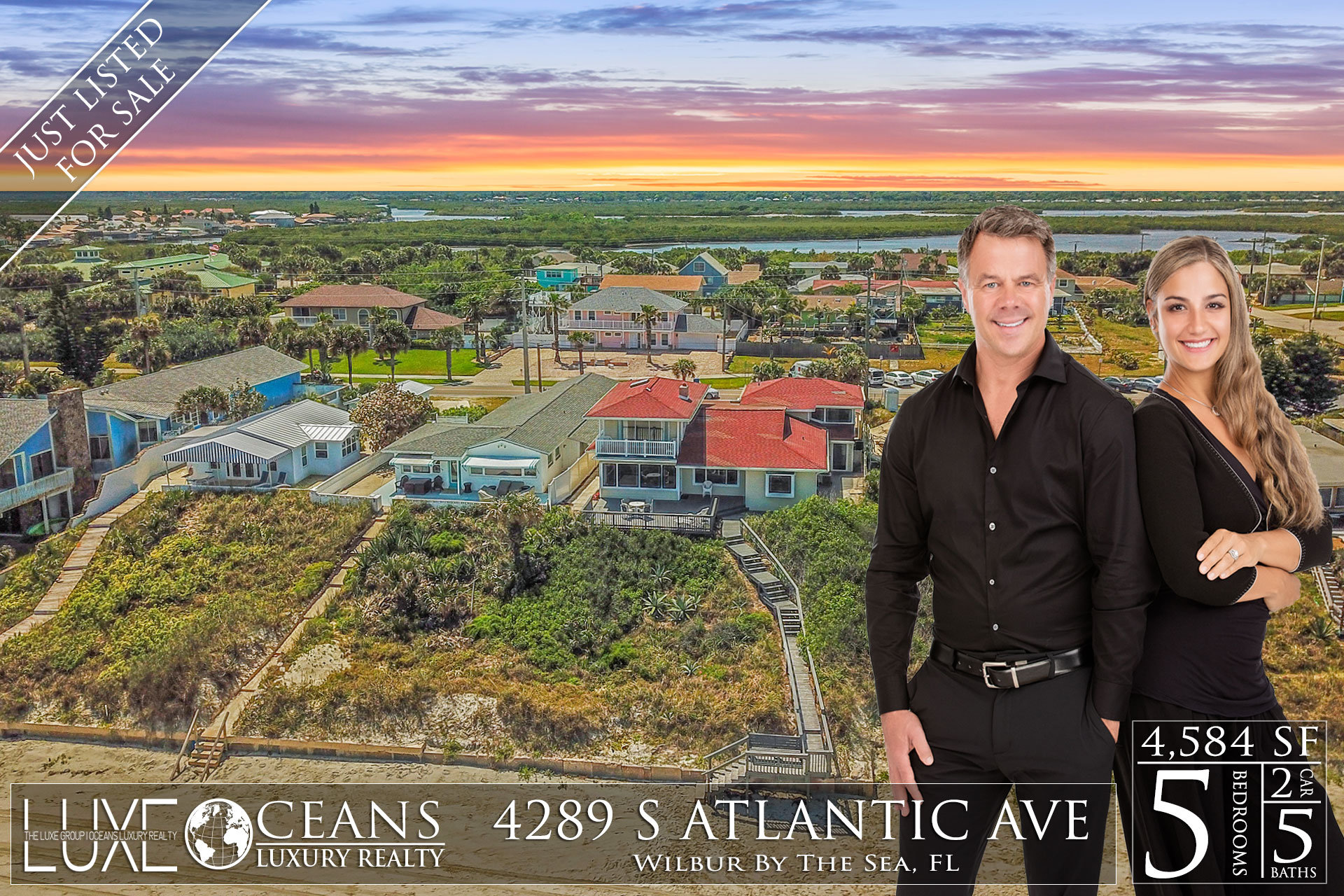Ponce Inlet Oceanfront Homes For Sale - 4289 S Atlantic Ave Waterfront Homes For Sale