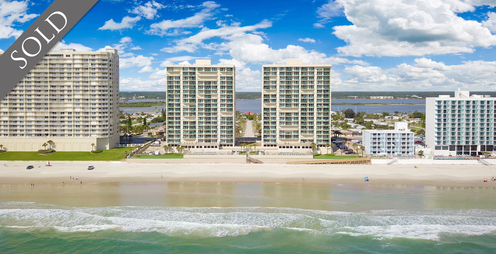 Sold Dimucci Twin Towers oceanfront condos For Sale at 3315 S Atlantic Ave Daytona Beach  Shores The LUXE Group 386-299-4043