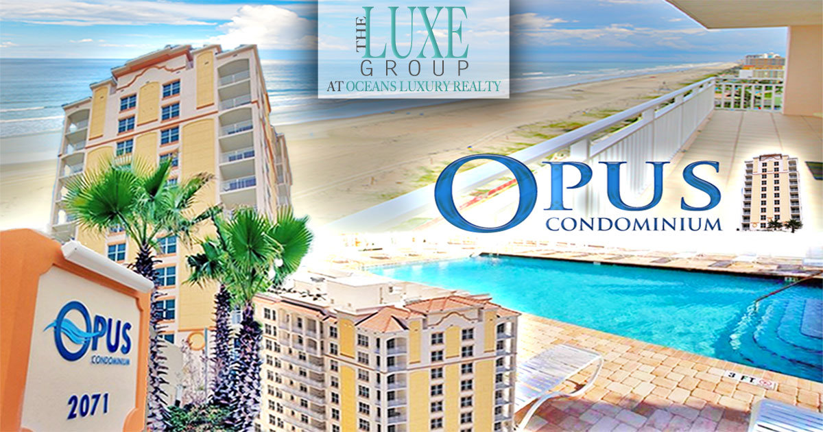 Just Listed Opus Daytona Beach Shores Condo For Sale - Call The LUXE Group 386-299-4043