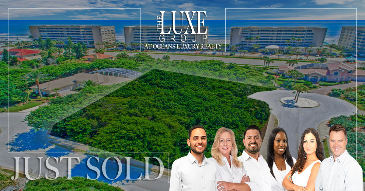 Ponce Inlet home lot for sale | 1 Daggett Circle SOLD | The LUXE Group 386-299-4043