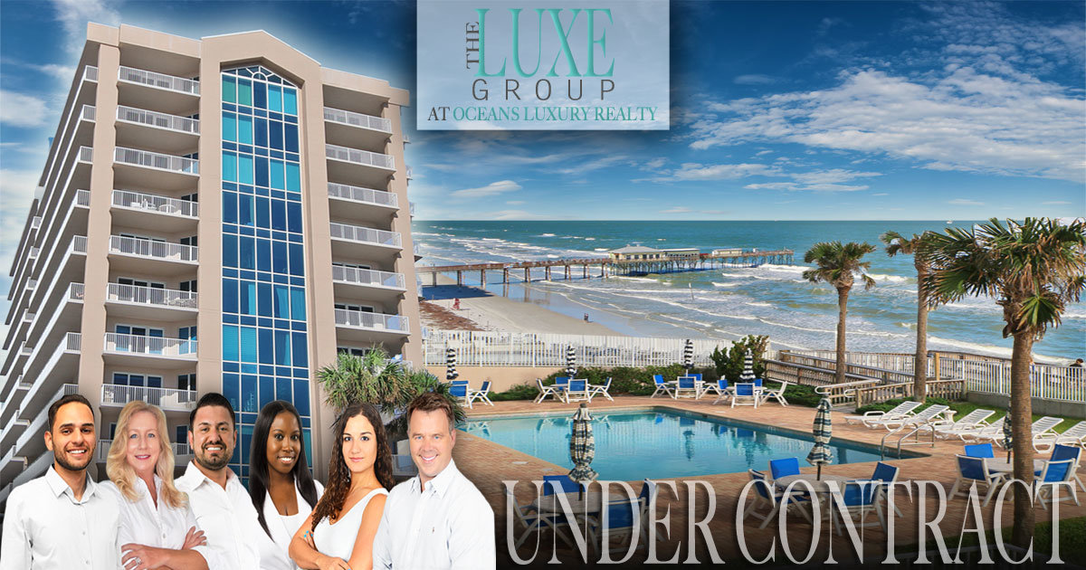 Under Contract Salida del Sol Condo 501 Daytona Beach Shores - The LUXE Group 386-299-4043