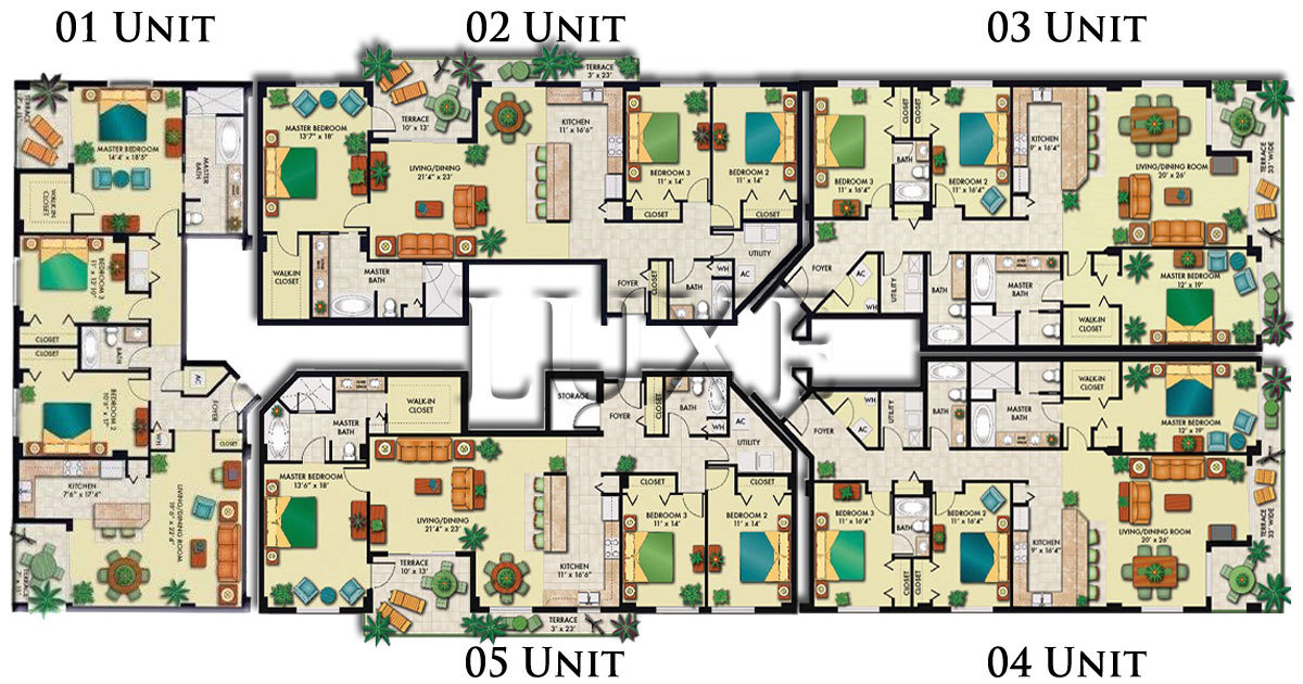 Opus Floor Plans Daytona Beach Shores Condos For Sale - The LUXE Group 386-299-4043