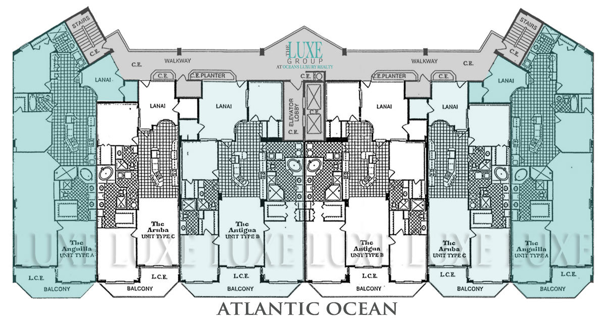 Towers Ten Floor Plans - 3425 S Atlantic Ave Daytona Beach Shores Oceanfront Condos For Sale - The LUXE Group 386-299-4043