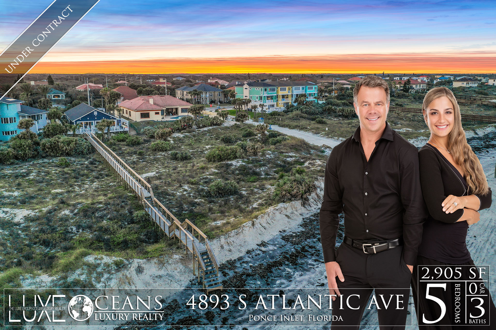 Ponce Inlet Oceanfront Homes For Sale- Under-Contract- 4893 S Atlantic Ave Waterfront Homes For Sale