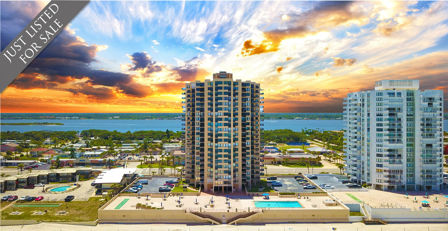 Oceans One Condos For Sale Oceanfront Real Estate at 3051 S Atlantic Ave Daytona Beach Shores, FL