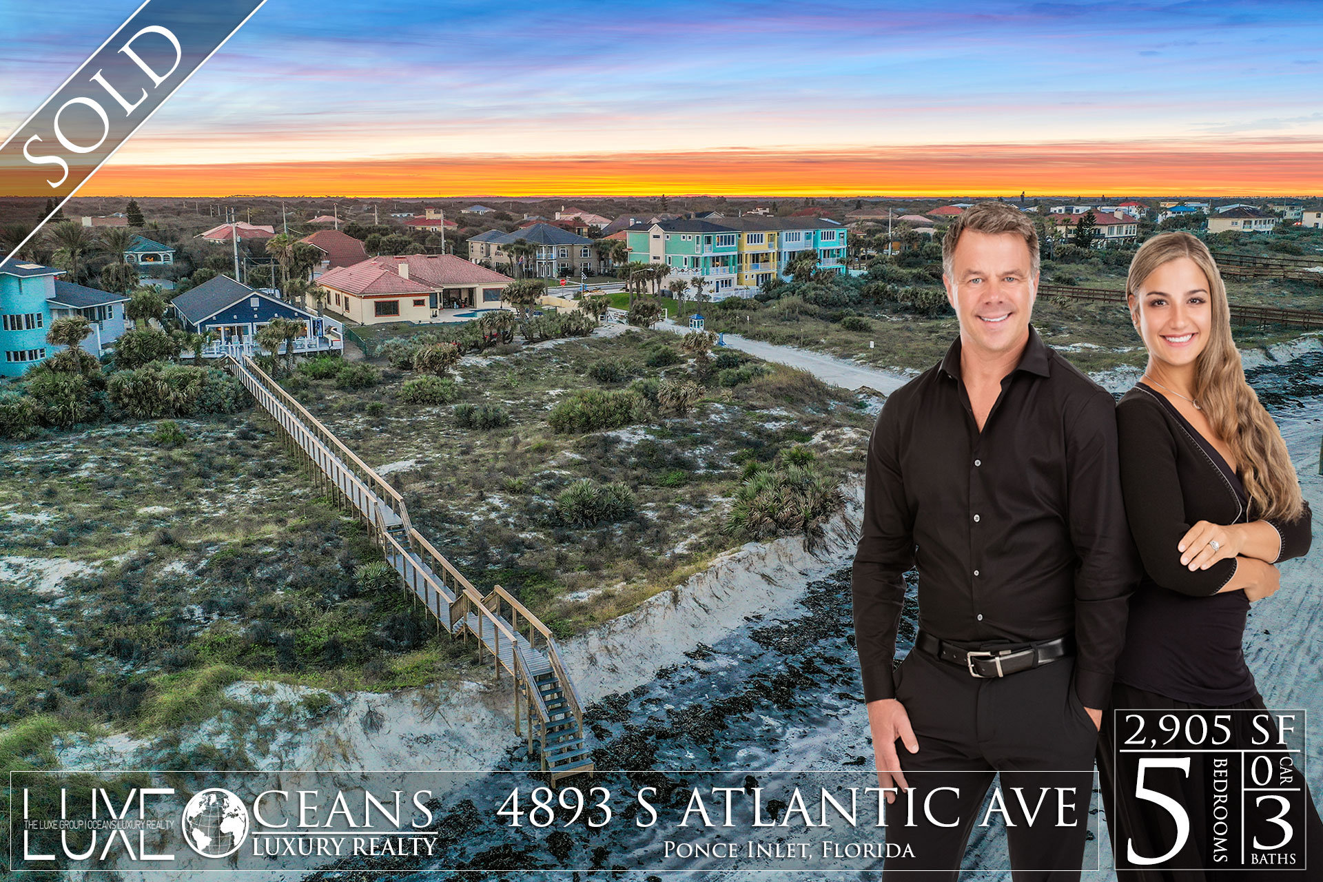 Ponce Inlet Oceanfront Homes For Sale- Sold- 4893 S Atlantic Ave Luxury Waterfront Real Estate
