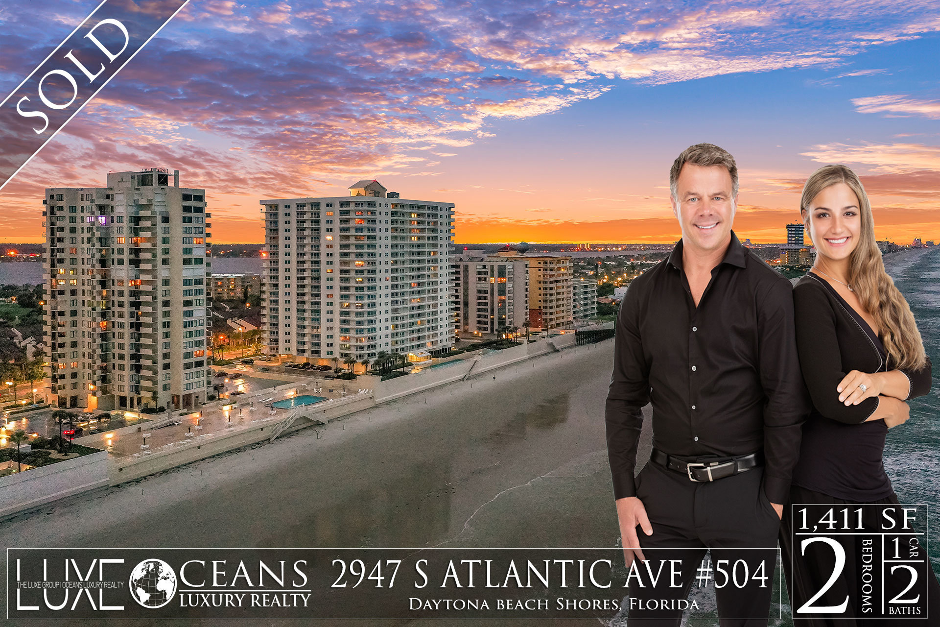 Oceans Seven Condos For Sale Oceanfront Real Estate at 2947 S Atlantic Ave Daytona Beach Shores, FL  Under Contract