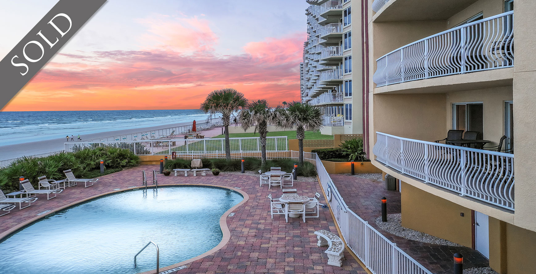 Palmas de Mallorca Condos For Sale Oceanfront Real Estate at 3811 S Atlantic Ave Daytona Beach Shores , FL  Sold