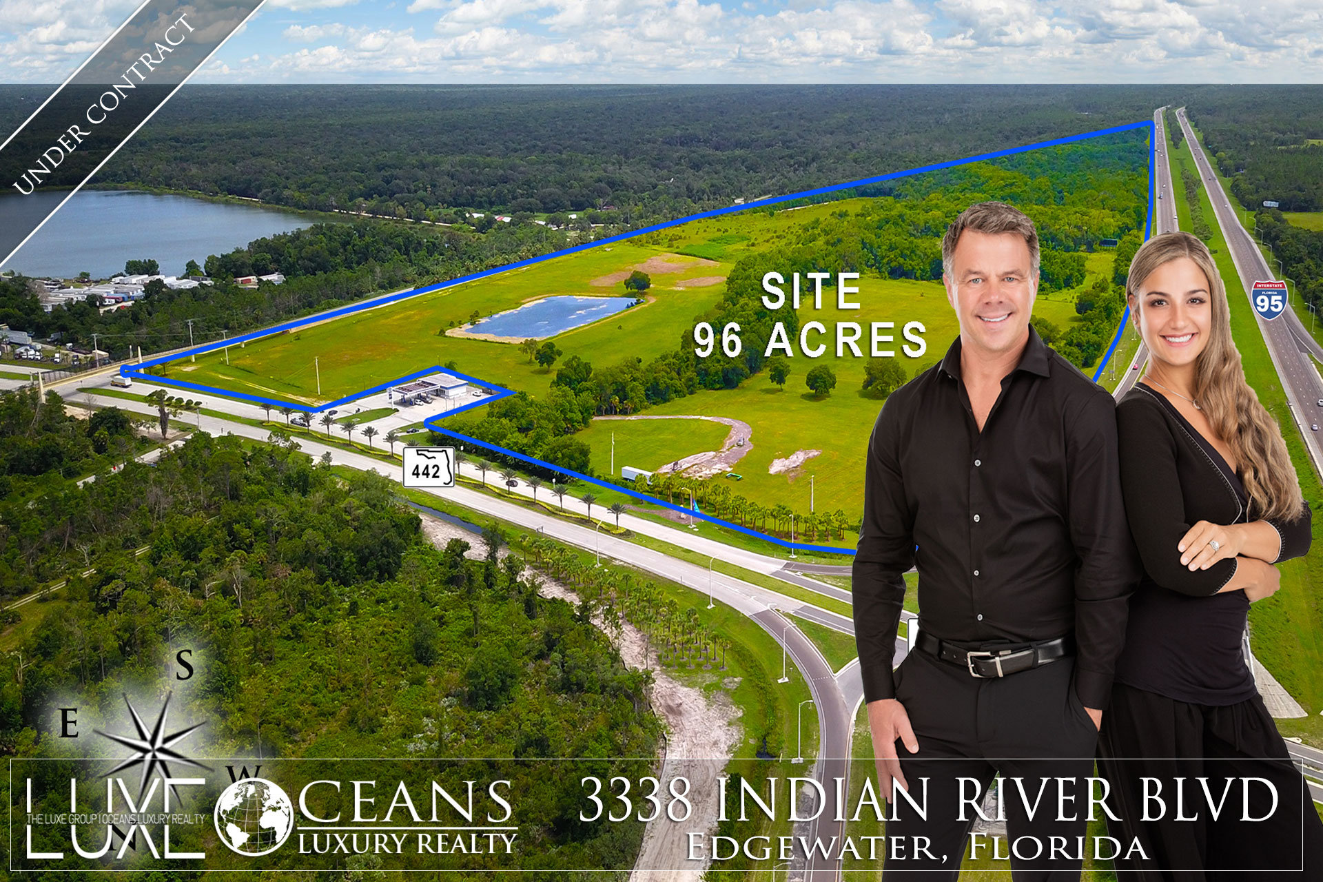 Commercial Land Mix Use PUD For Sale. Now Under Contract -  3338 Indian River Blvd, Edgewater, FL