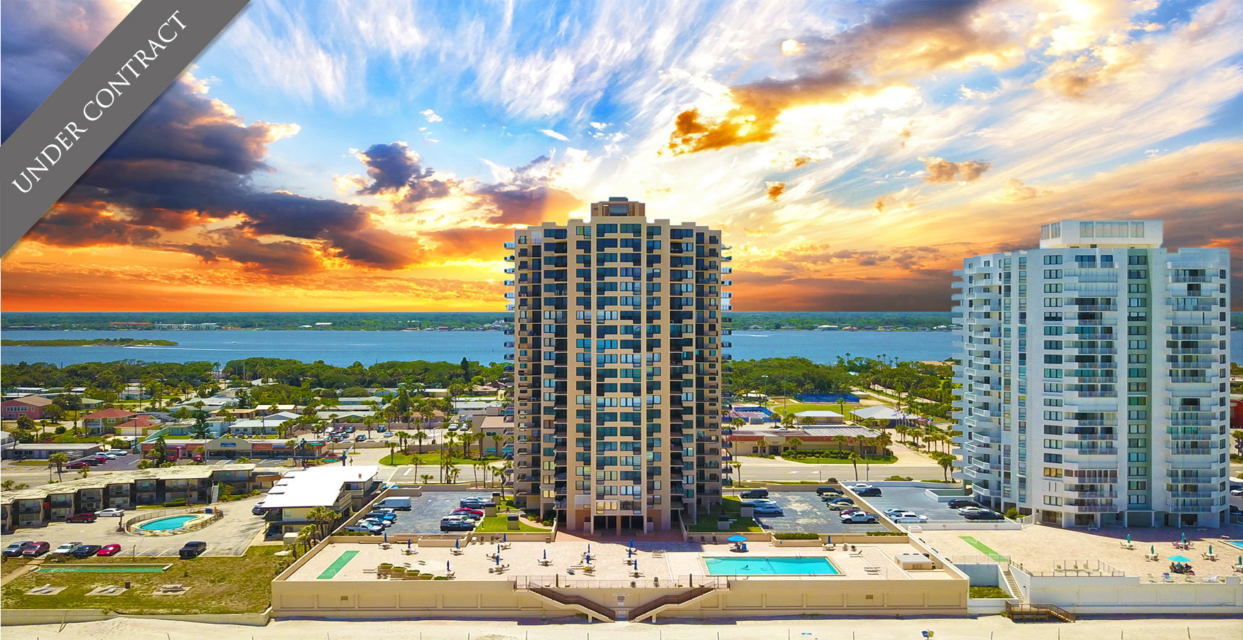 Oceans One Condos For Sale Oceanfront Real Estate at 3051 S Atlantic Ave Daytona Beach Shores, FL  Under Contract