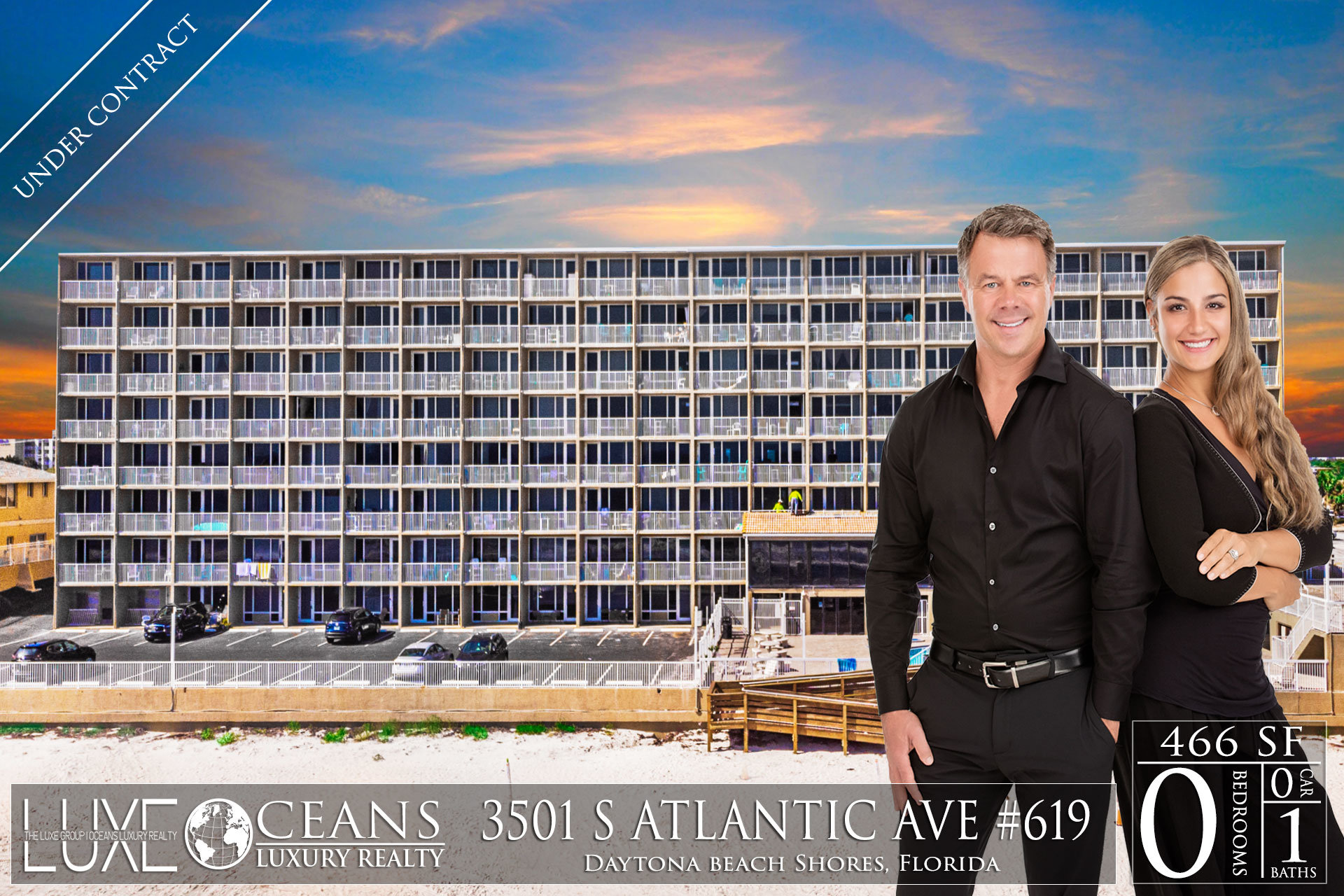 Pirates Cove Condos For Sale Oceanfront Real Estate at 3501 S Atlantic Ave,  Daytona Beach Shores, FL Under Contact