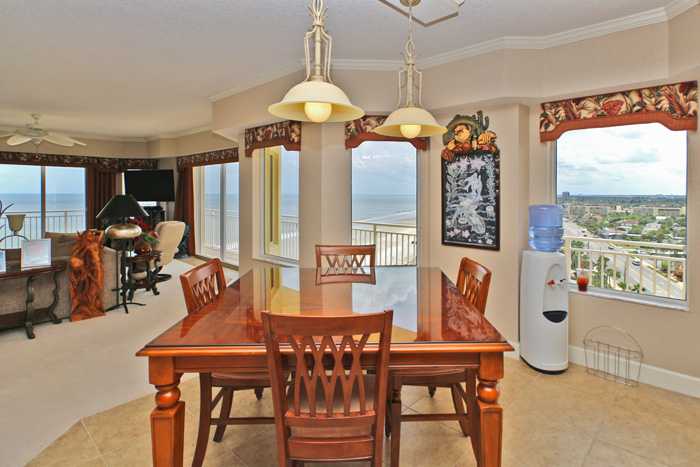Daytona Beach Oceanfront Condo For Sale. Island Crowne Unit 1004 Ocean View Dining. 1900 N Atlantic Ave