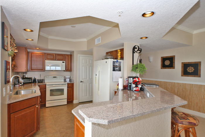 Daytona Beach Oceanfront Condo For Sale. Island Crowne Unit 1004 River View Kitchen. 1900 N Atlantic Ave