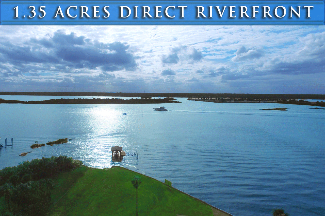 Riverfront homes for sale in Port Orange Florida. 1.35 acres beachside along the Intracoastal Waterway. Zoned Multifamily or Assisted Living Facility - Riverfront home Beachside Intracoastal Zoned Multi-Family
