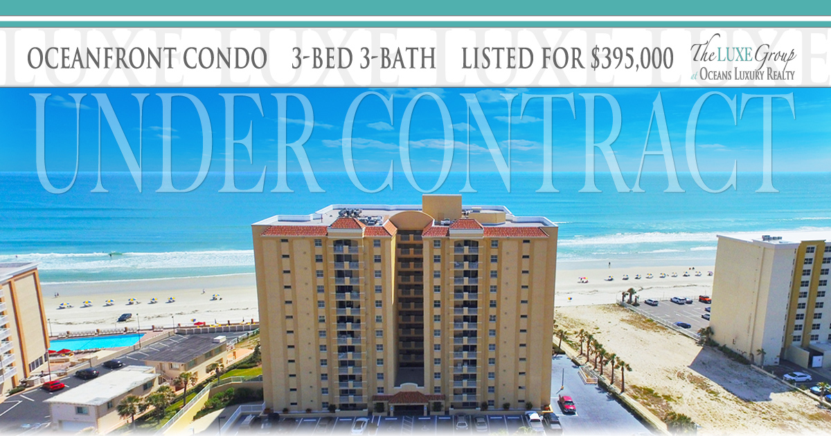 St Croix Condo 905 - 3145 S Atlantic Ave Daytona Beach Shores - Under Contract - The LUXE Group 386.299.4043