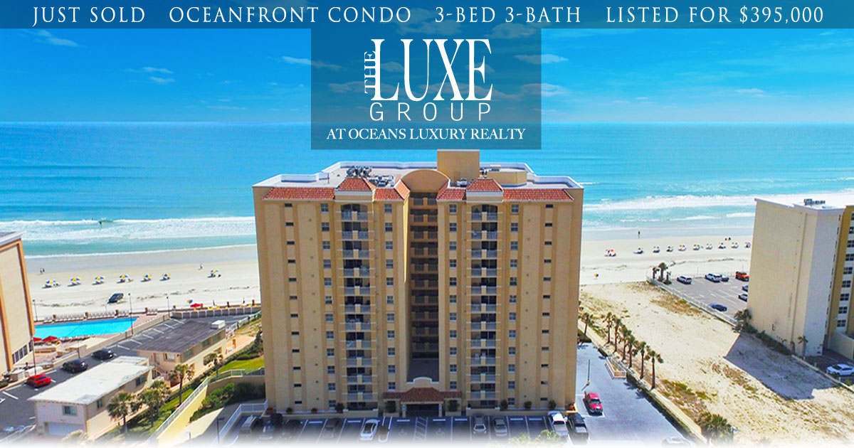 St Croix Condo 905 JUST SOLD - 3145 S Atlantic Daytona Beach Shores - The LUXE Group 386.299.4043