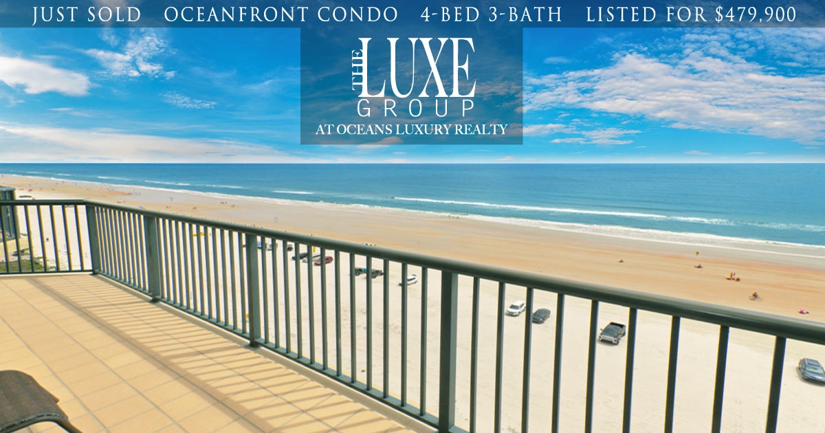 Towers Ten Condo 1004 JUST SOLD - 3425 S Atlantic Daytona Beach Shores - The LUXE Group 386.299.4043