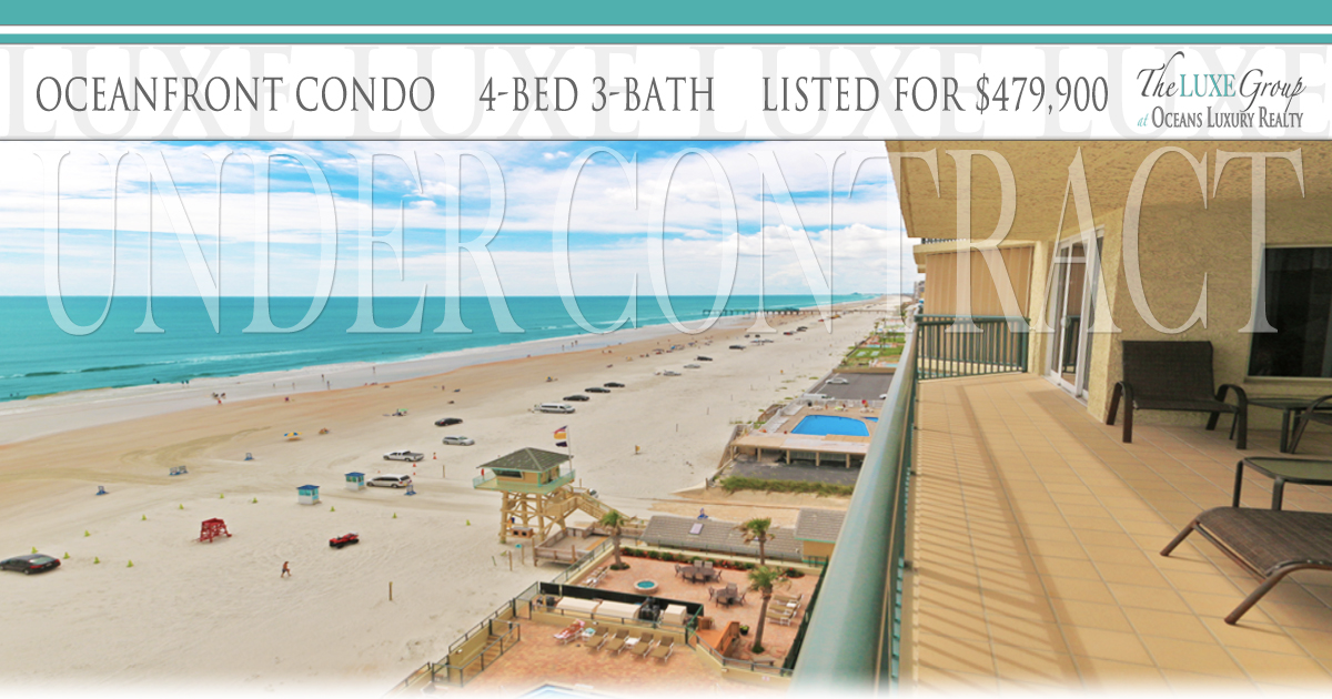 Towers Ten VA Approved Oceanfront Condo 1004 - Under Contract - 3425 S Atlantic Ave Daytona Beach Shores  - The LUXE Group 386.299.4043