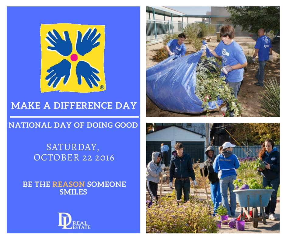 National Make a Difference Day. Volunteer for Your Community. Daytona Beach, Florida