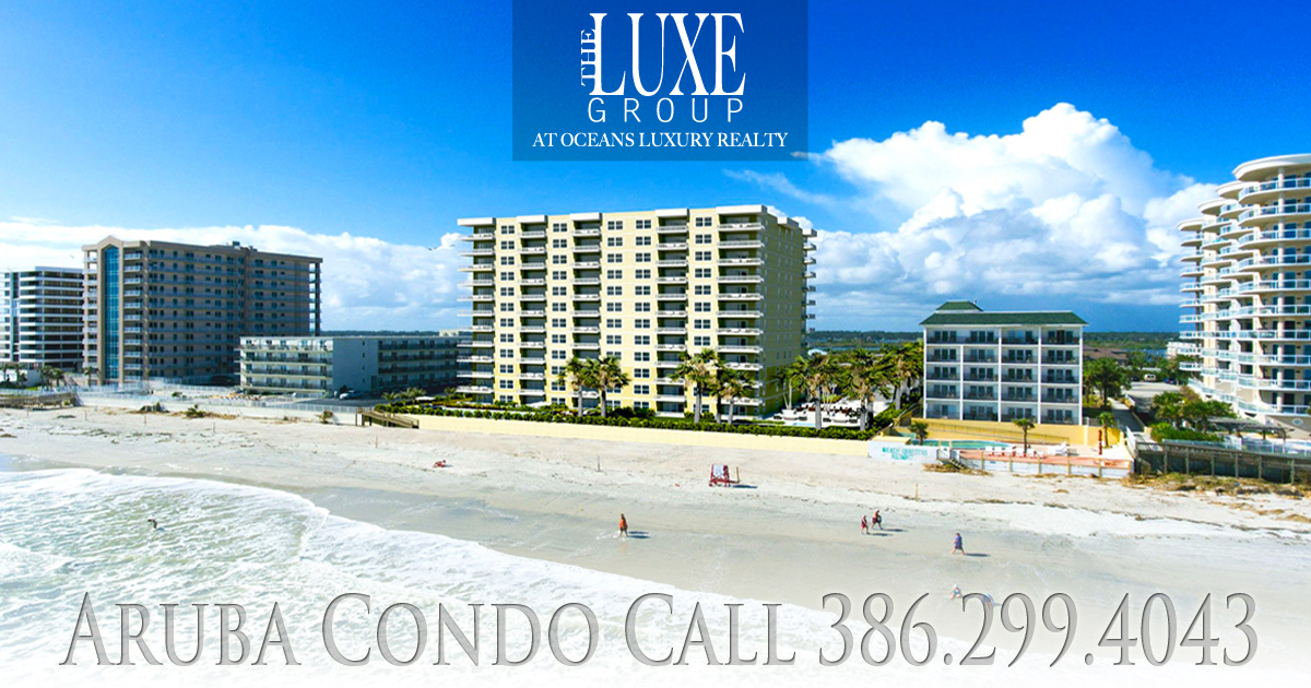 Aruba Condo Pre Contstruction - 3721 S Atlantic Ave - Daytona Beach Shores 32118 Call The LUXE Group 386.299.4043