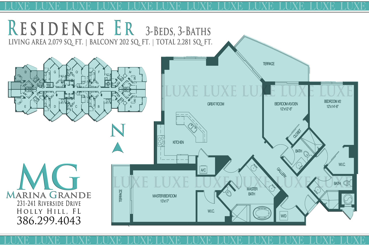Marina Grande Condo Riverfront Floor Plan Er Unit 10 - 231 241 Riverside Drive Holly Hill - The LUXE Group 386.299.4043