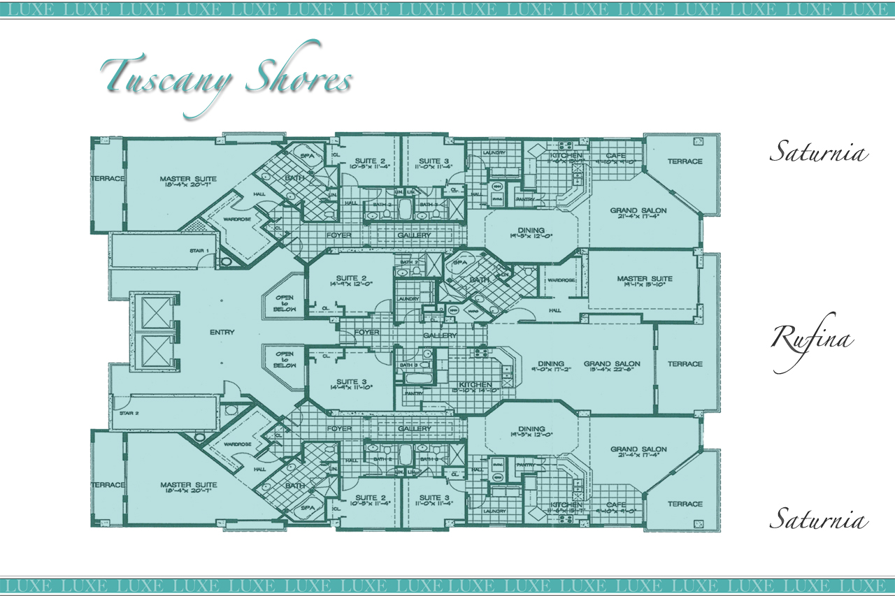 Tuscany Shores Condo Building Layout - 2901 S Atlantic Ave - Tuscany Shores Floor Plans Daytona Beach Shores - The LUXE Group 386.299.4043
